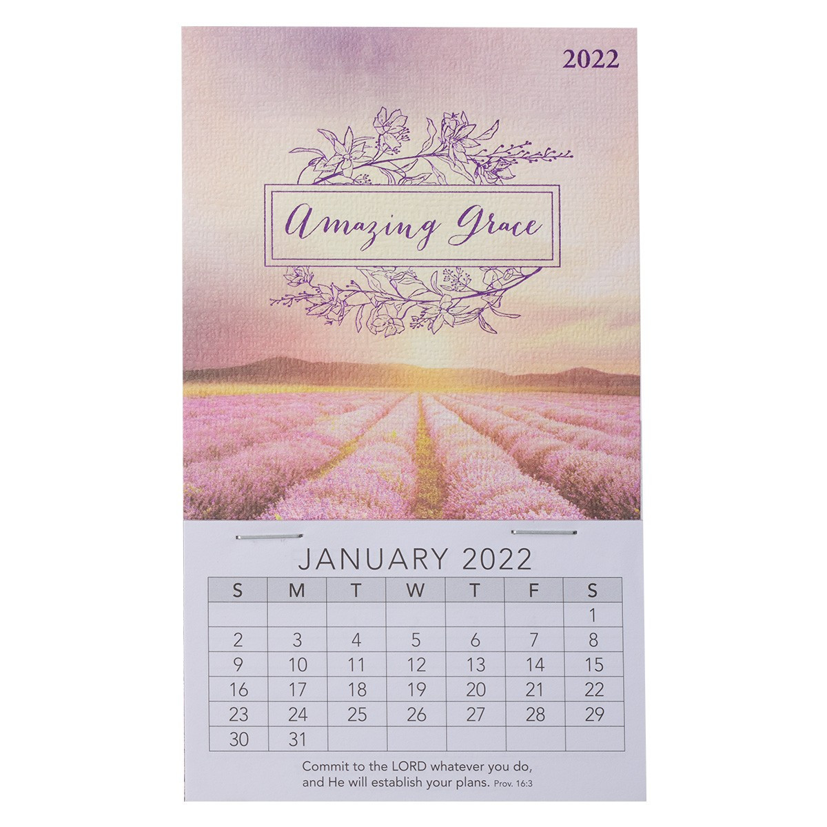 Amazing Calendar 2022.2022 Amazing Grace Mini Magnetic Calendar
