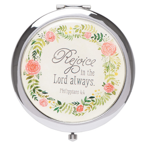 Rejoice in the Lord Always Compact Mirror - Philippians 4:4