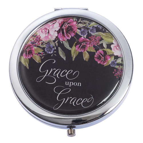 Grace Upon Grace Compact Mirror in Black