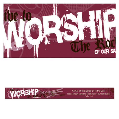 Magnetic Strip: Live to Worship the Rock: Psalm 95:1