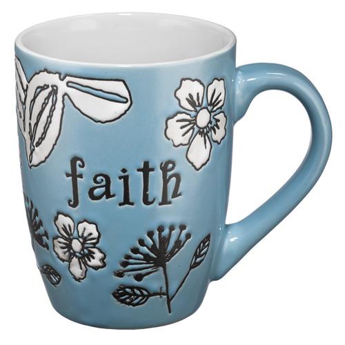 Faith (Blue) Stoneware Mug