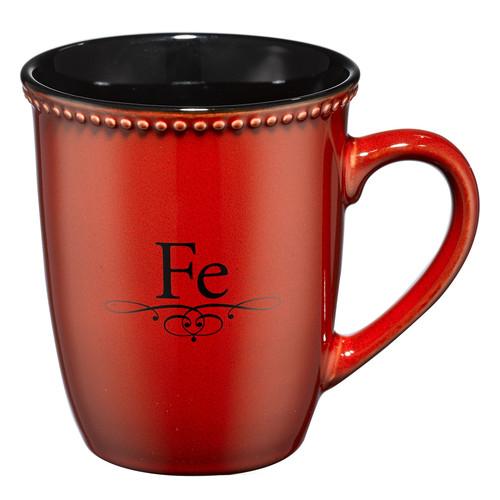 Taza roja Fe