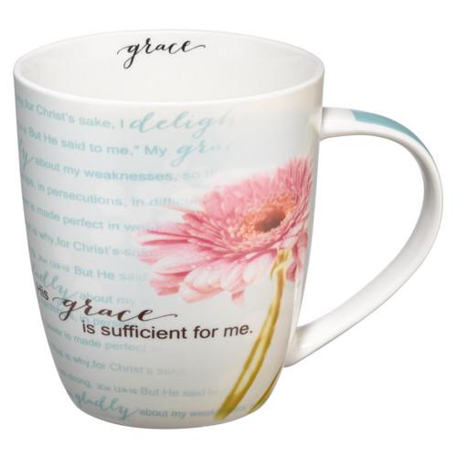 His Grace is Sufficient 2 Corinthians 12:9-11 Coffee Mug