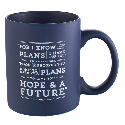 I Know the Plans in Navy Jeremiah 29:11 Coffee Mug
