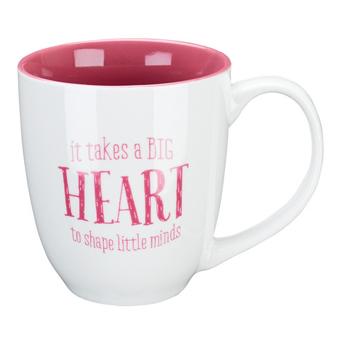 It Takes a Big Heart Ceramic Teacher Coffee Mug - 1 Corinthians 16:14