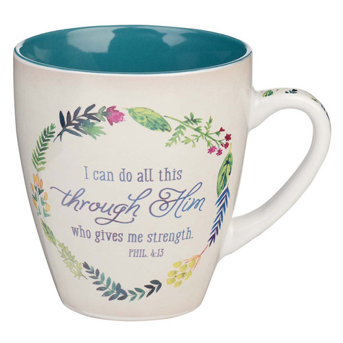 I Can Do All This Through Him Ceramic Coffee Mug - Philippians 4:13