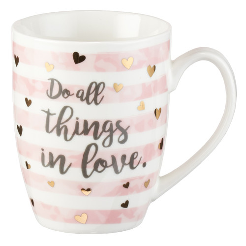 Do All Things in Love 1 Corinthians 16:14 Coffee Mug