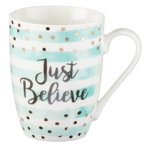 Just Believe Ceramic Coffee Mug - Mark 5:36