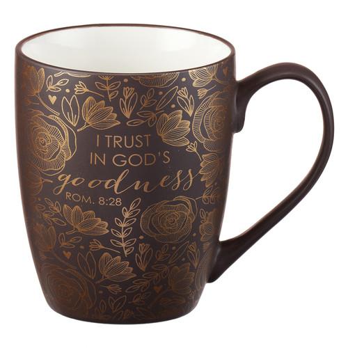 I Trust in Gods Goodness Romans 8:28 Coffee Mug