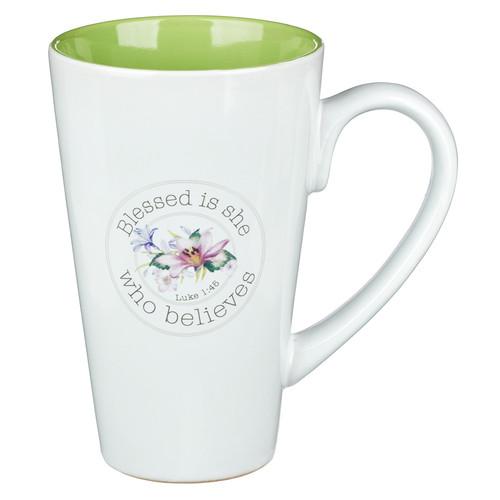 Blessing From Above Luke 1:45 Coffee Mug