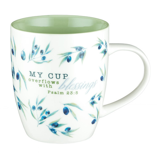 My Cup overflows with Blessings Psalm 23:5 Coffee Mug