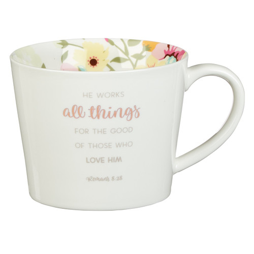 All Things Coffee Mug - Romans 8:28