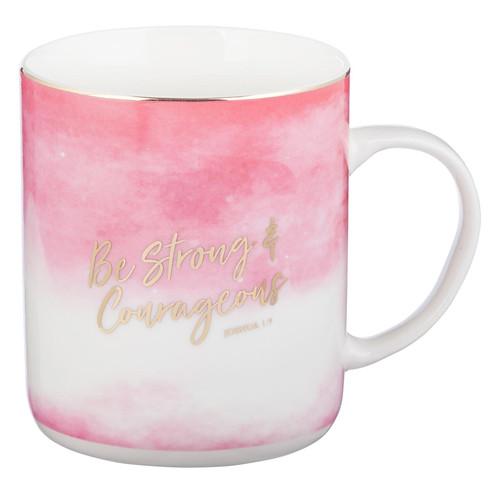 Be Strong & Courageous Ceramic Coffee Mug - Joshua 1:9