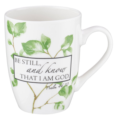 Be Still Ceramic Coffee Mug – Psalm 46:10