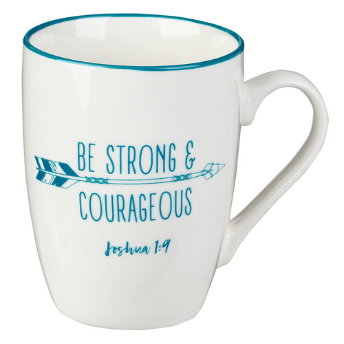 Strong & Courageous Coffee Mug – Joshua 1:9