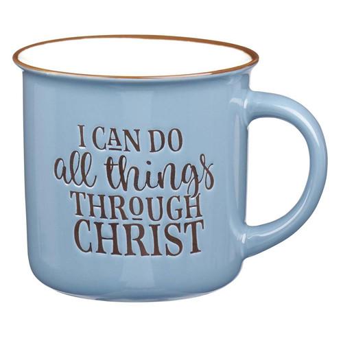 I Can Do All Thing Through Christ - Blue Camp Style Coffee Mug