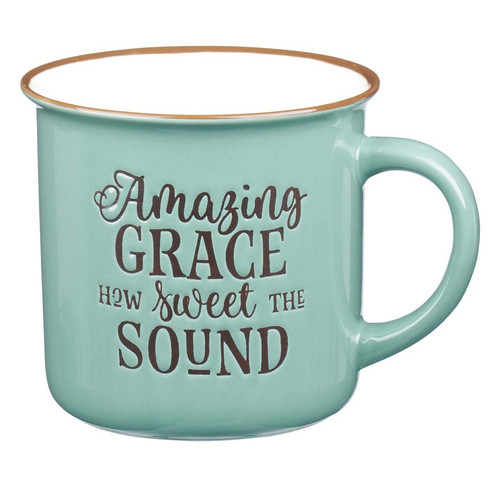 Amazing Grace - Green Camp Style Coffee Mug