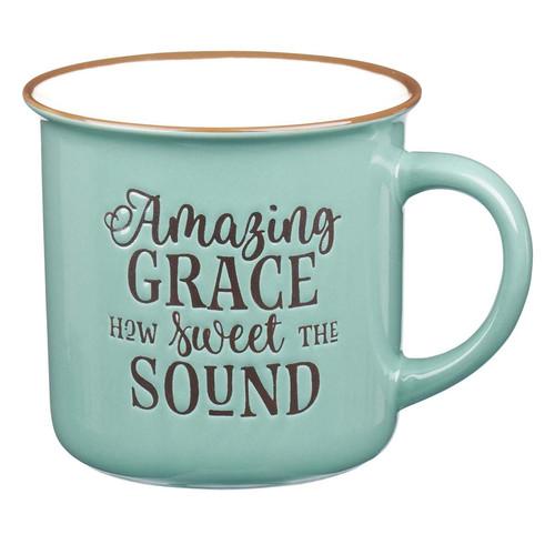 Amazing Grace - Green Camp Style Coffee Mug