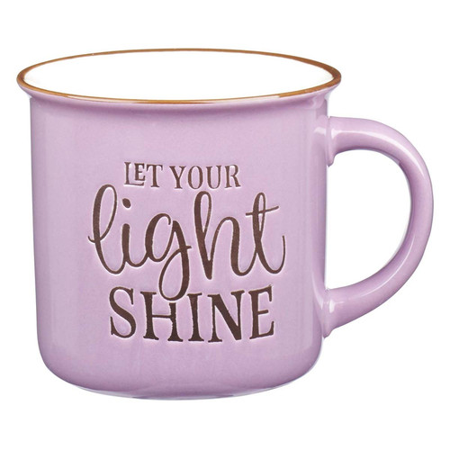 Let Your Light Shine - Lavender Camp Style Coffee Mug