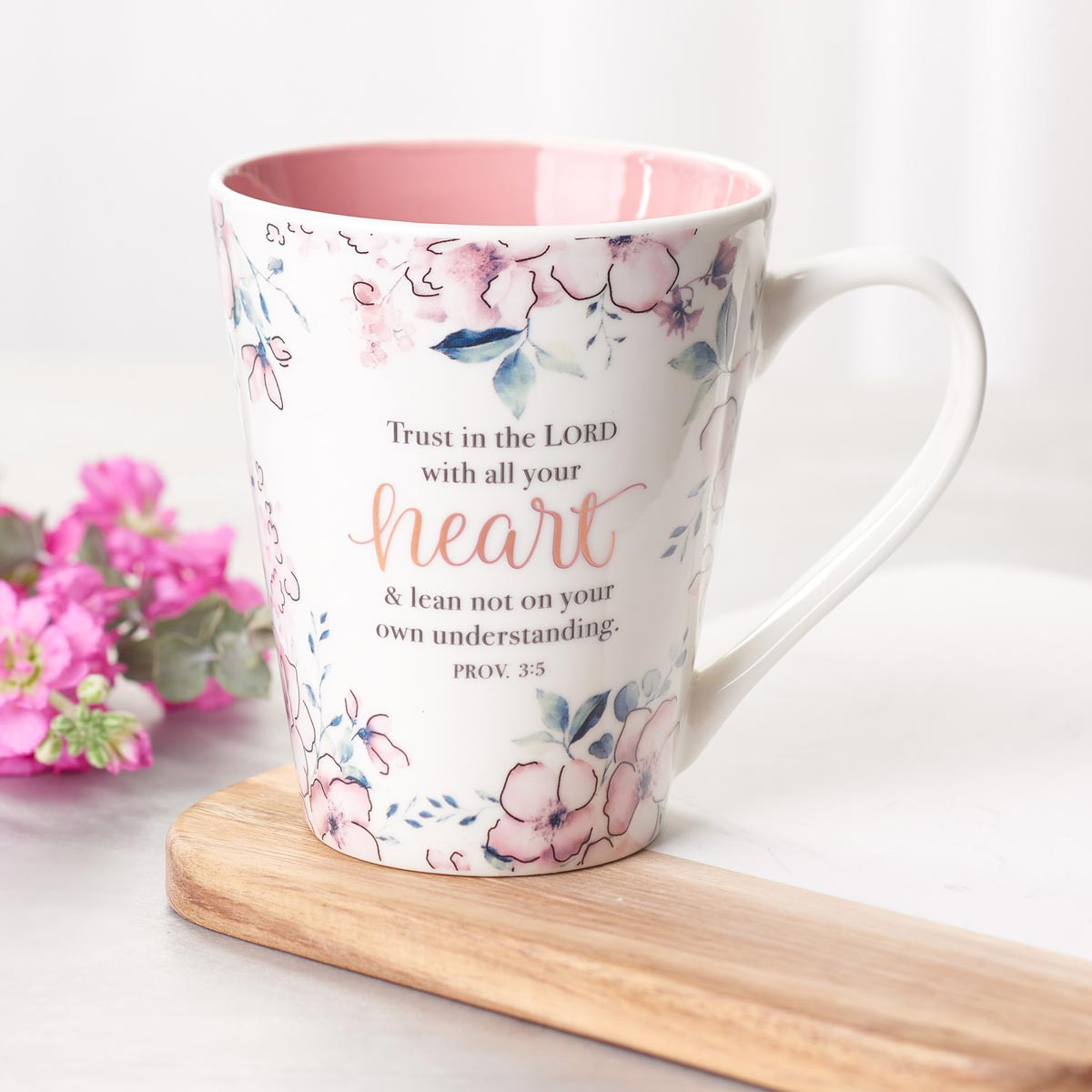 Trust In The Lord Coffee Mug Proverbs 3 5