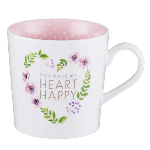 You Make My Heart Happy Ceramic Coffee Mug