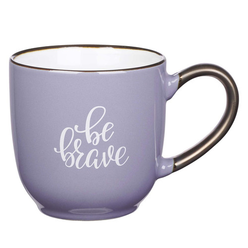 Be Brave Ceramic Mug in Lavender
