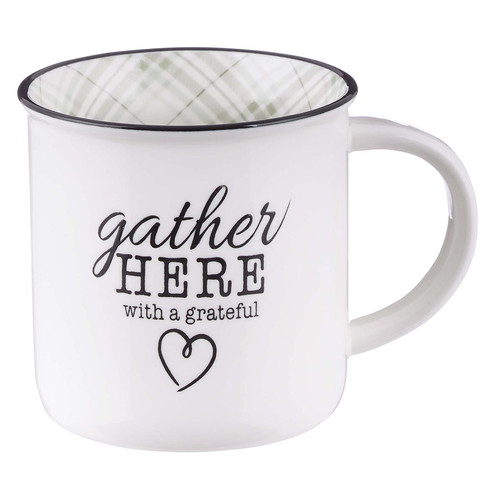 Gather Here With A Grateful Heart Camp-Style Ceramic Mug