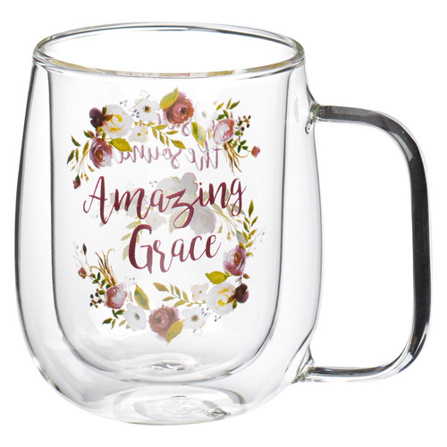 Amazing Grace Double-walled Glass Coffee Mug
