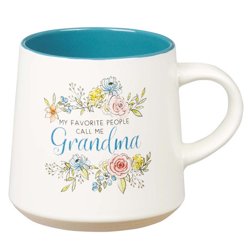 Ceramic Grandma Coffee Mug with Clay Dipped Base