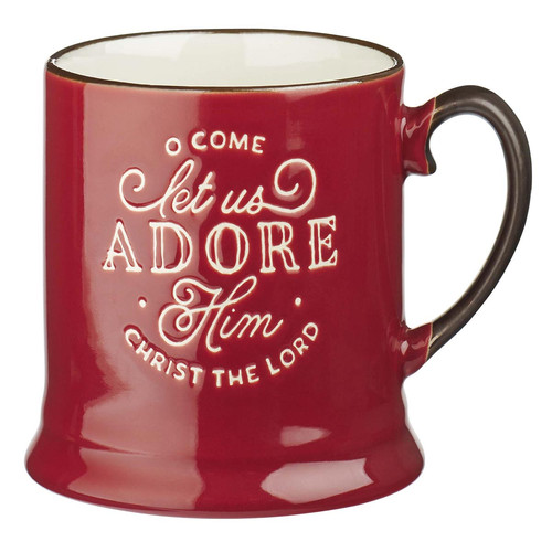 Let Us Adore Him Ceramic Christmas Coffee Mug