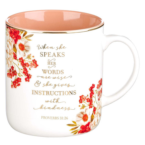 When She Speaks Ceramic Coffee Mug - Proverbs 31:26
