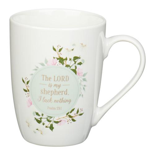 The LORD Is My Shepherd White Ceramic Coffee Mug– Psalm 23:1