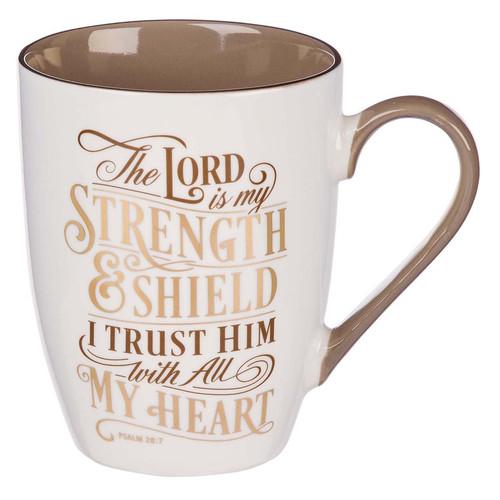 The LORD is My Strength Ceramic Coffee Mug – Psalm 28:7