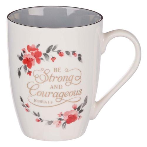 Be Strong & Courageous Ceramic Coffee Mug – Joshua 1:9