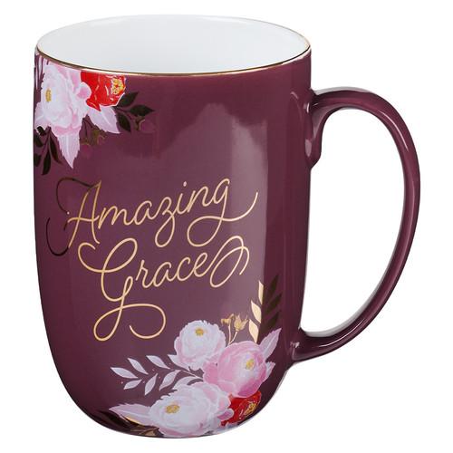 Amazing Grace Mulberry Pink Ceramic Coffee Mug