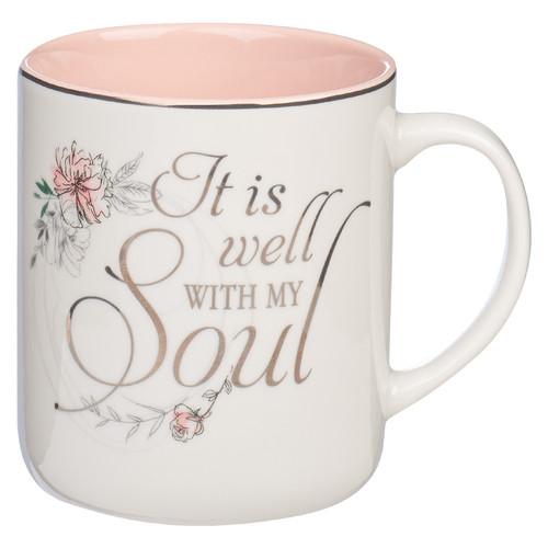 It Is Well Pink Ceramic Mug