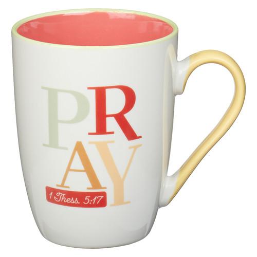 Pray Continually Orange Ceramic Mug - 1 Thessalonians 5:17