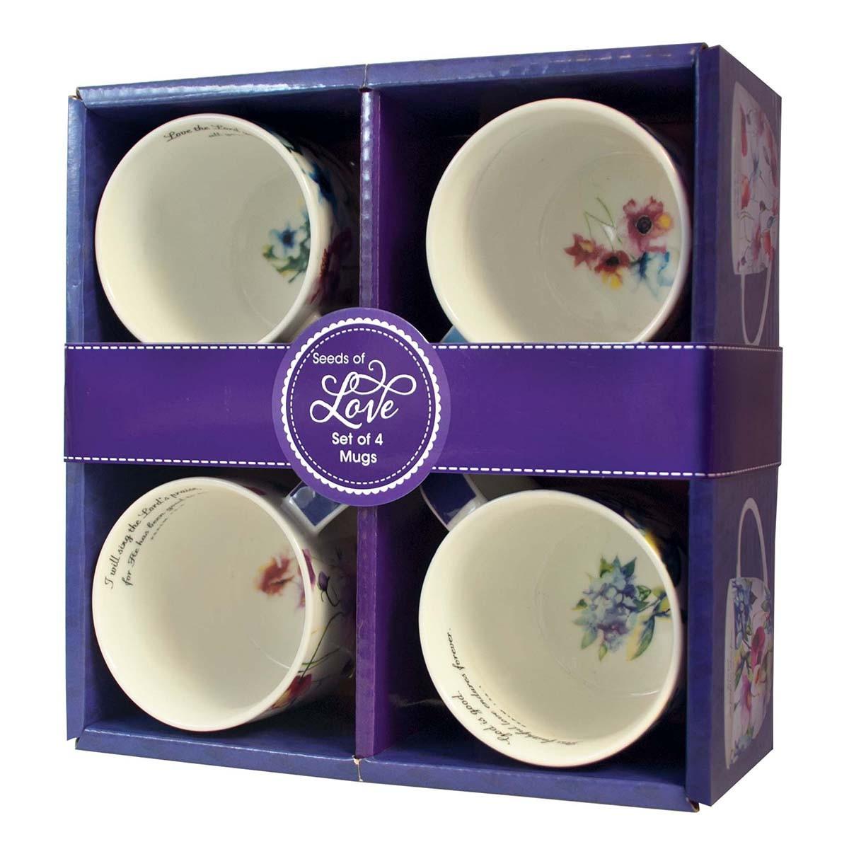 Coffee Mugs: Seeds of Love set of four