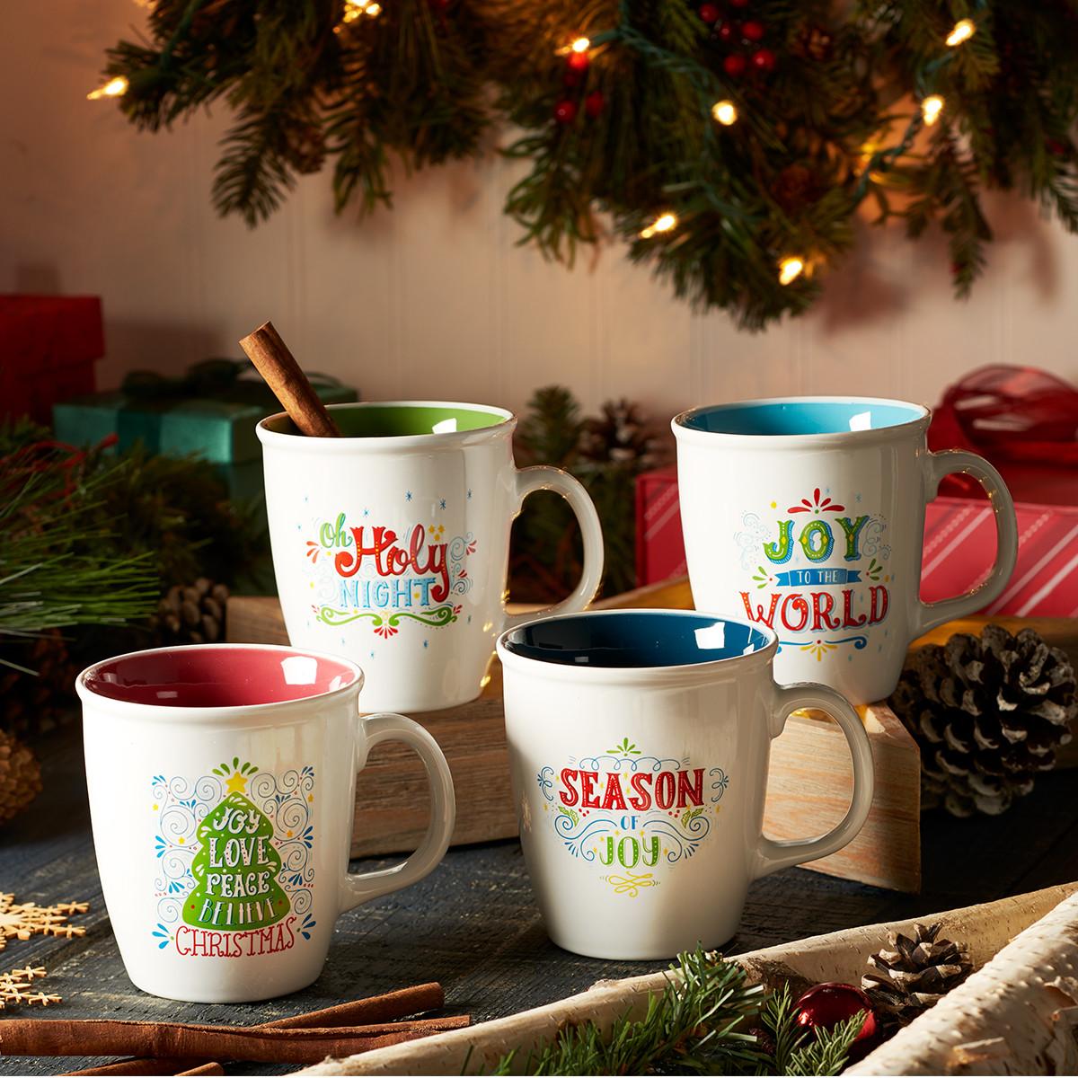 Christmas Coffee Mug Set: Joy to the World