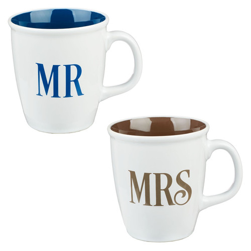 Mr and Mrs Collection Two Piece Coffee Mug Set
