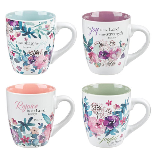 Rejoice Collection Set of 4 Coffee Mug Set