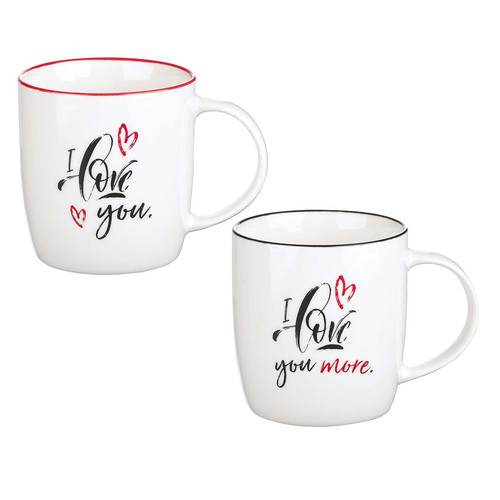 I Love You Two Piece Ceramic Mug Set - Song of Solomon 3:4