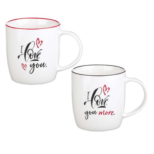 I Love You Two Piece Ceramic Mug Set - Song of Solomon 3:4
