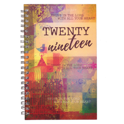 Trust in the Lord - Proverbs 3:5 2019 Wirebound Daily Planner