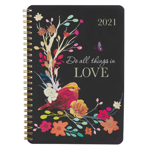2021 Do All Things in Love Wirebound Daily Planner.