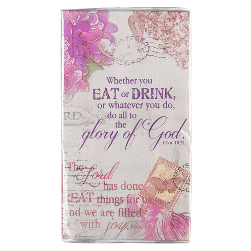 Glory of God Pack of 20 - 1 Corinthians 10:31 Paper Napkins