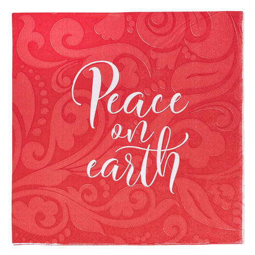 Peace on Earth Christmas Paper Napkins