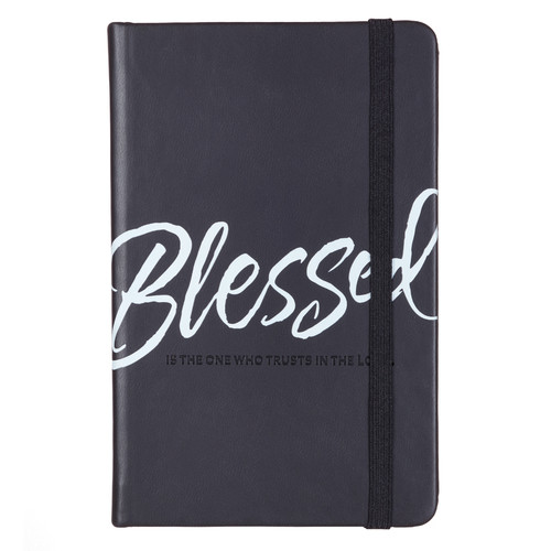 Blessed Hardcover LuxLeather Notebook with Elastic Band Closure - Jeremiah 17:7