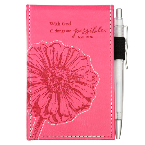 All Things Are Possible - Matthew 19:26 Pocket Notepad With Pen