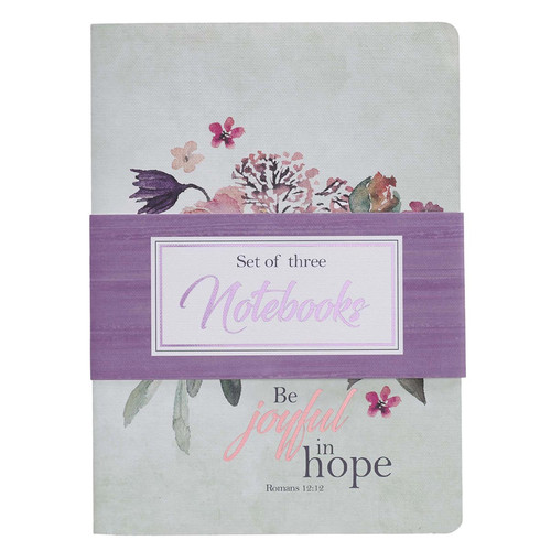 Be Joyful in Hope, Set of 3 - Romans 12:12 Notebook Set